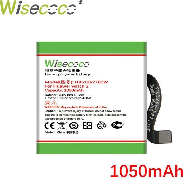 WISECOCO 1050mAh HB512627ECW Batterie Für HUAWEI uhr 2 LEO B09 SmartWatch Auf Lager Neueste Produktion Hohe Qualität Batterie