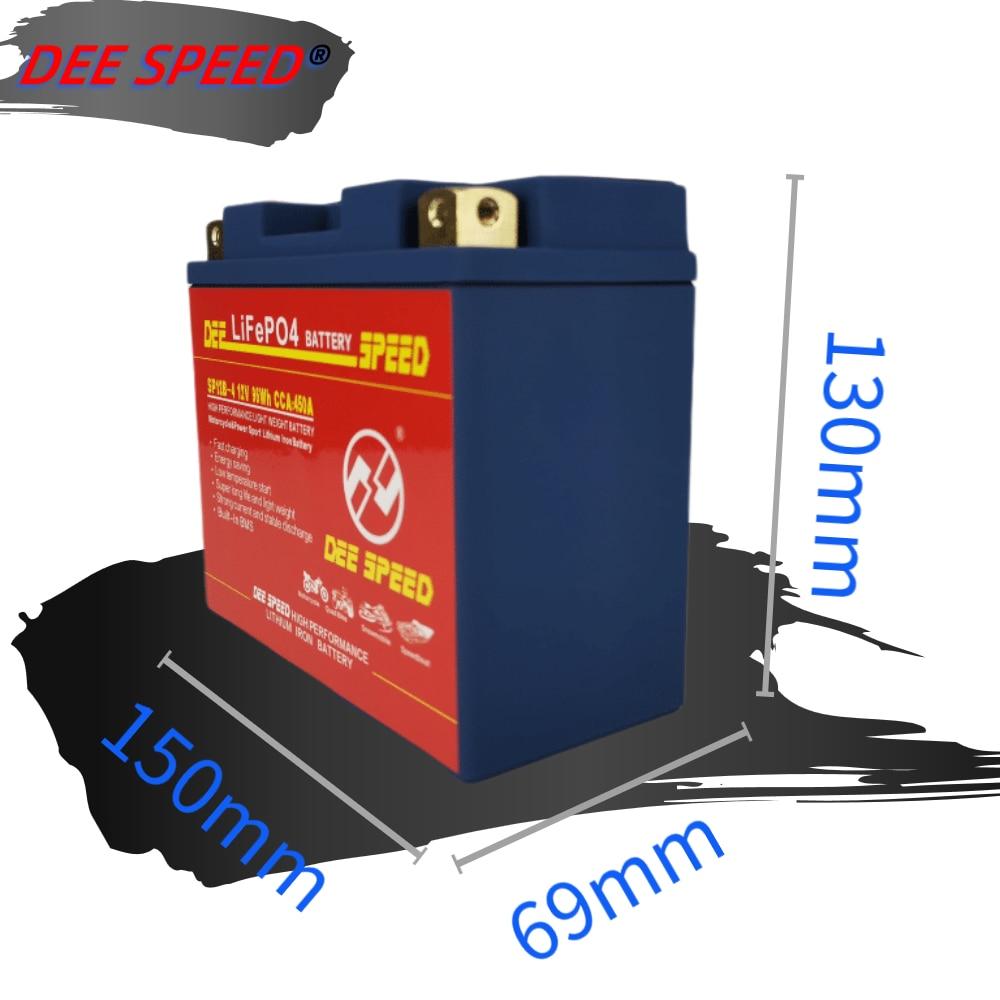 LiFePo4-batería de litio para Moto rcycle, 12V, 12B-4, 12Ah, arrancador, batería de gel con balance BMS, para bmw Moto r