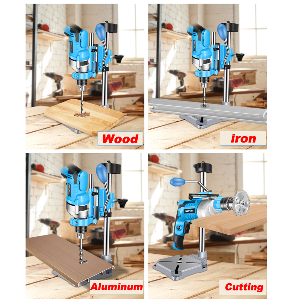 For For Power ALLSOME Base Stand Drill Drill Iron Press Electric Clamp Bench Workbench Drilling
