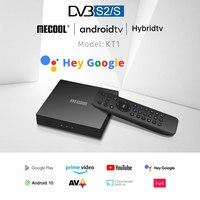 4K Satellite Decoder MECOOL KT1 TV Receiver Amlogic S905X4 Netflixs Android TV 10 DVB-S2 Dolby Google Italien Spanisch TV BOX
