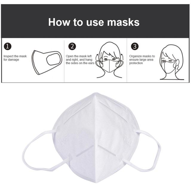 Disposable Face Mask Dustproof Mask Anti-pollution Anti-fog PM2.5 Indoor Outdoor Facial Mask For Sports Cycling 4
