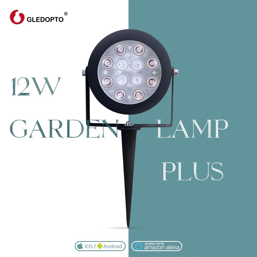 gledopto inteligente zigbee 12 w rgbcct jardim lampada paisagem caminho luz ao ar livre regulavel compativel