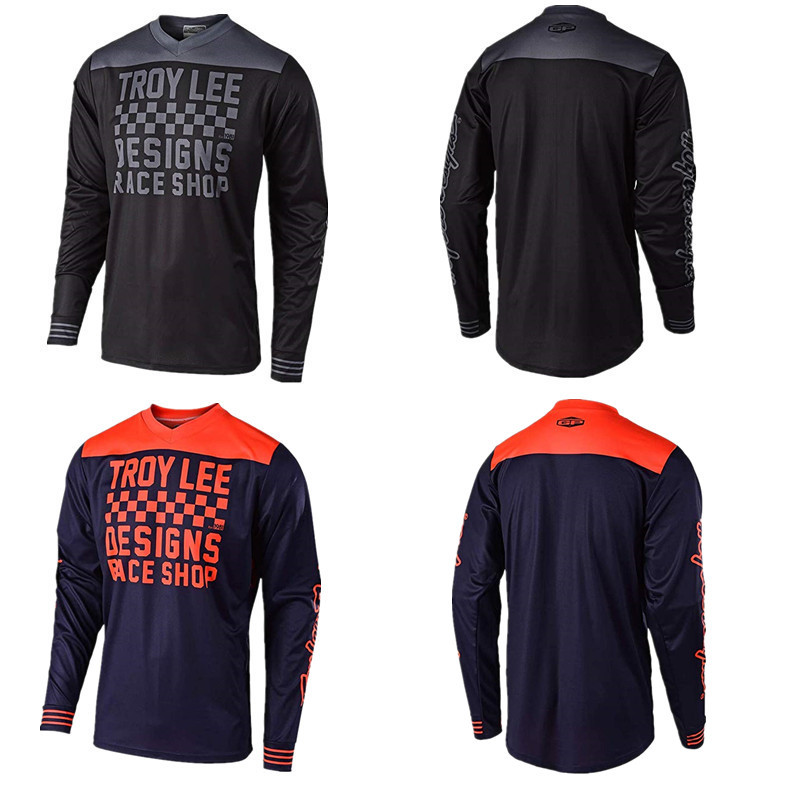 TLD Bicycle Clothing Troy Lee Designs Riding Clothes Long-sleeved Upper Garment Men's Summer Off-Road Vehicle Sweat Absorbing