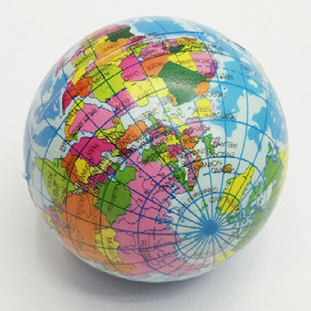 New Slime Gadgets Earth World Map Globe Stress Relief Squeeze Hand Therapy Bouncy Ball Toy Globe Palm Ball Planet Earth