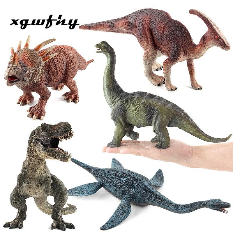 Único pino jurássico parque grande dinossauro tyrannosaurus modelo de brinquedo para crianças menino dragão brinquedo conjunto menino dinossauro modelo decoração jm196