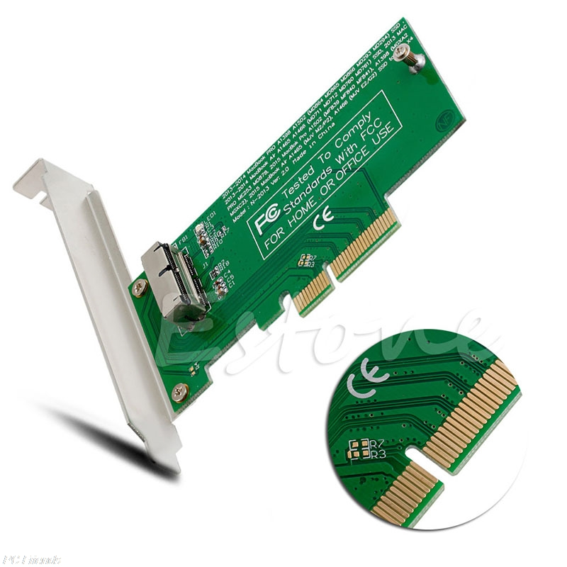 New Adapter Card To PCI-E X4 For Apple 2013 2014 2015 For MacBook Air A1465 A1466 SSD Feb7