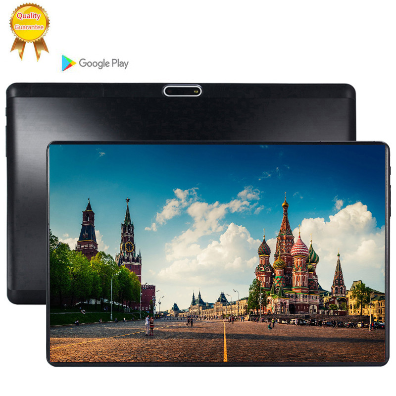 1920x1280 2.5D Tempered Screen Tablet 10.1 Inch Android 9.0 Octa Core 6GB RAM 128GB ROM 3G LTE 1280*800 IPS 5.0MP Ips Tablet