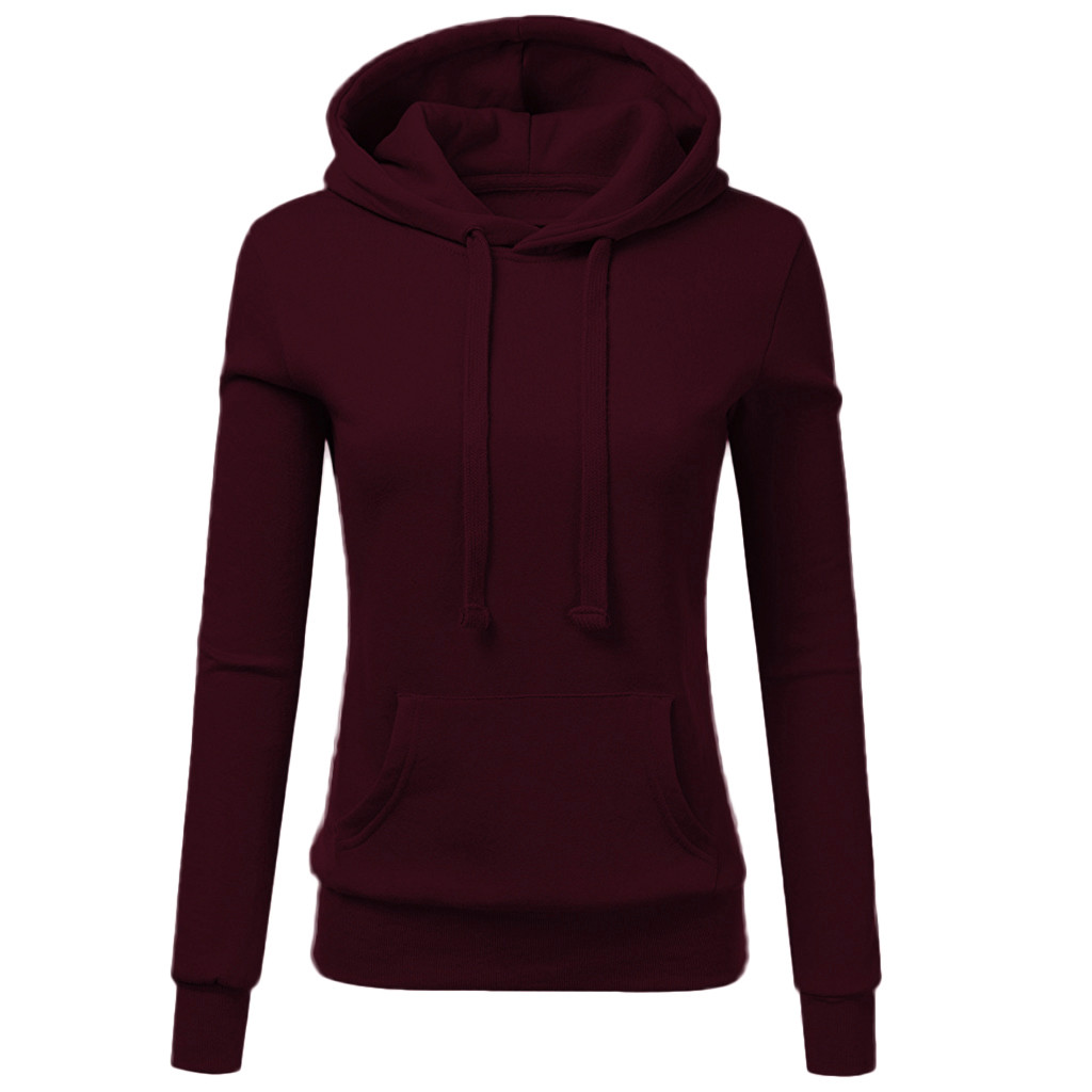 Fashion Womens  Autumn Winter Hooded Casual Hoodies Sweatshirt Pocket Ladies Blouse Pullove 7.29