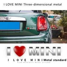 3D metal car sticker Car accessories exterior decoration Modification styling For BMW MINI COOPER S JCW F55 F56 F60 R56 R60 R61 стоимость