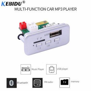 Kebidu MP3 Bluetooth decodificador inalámbrico tarjeta coche 12V Módulo de Audio Mini DC WMA FM USB TF Radio para coche MP3 Accesorios