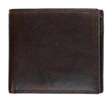 купить Western Genuine Leather Three Folded Driver License Coffee Men Wallet Vintage Cow Leather Short Men Coin Purse дешево
