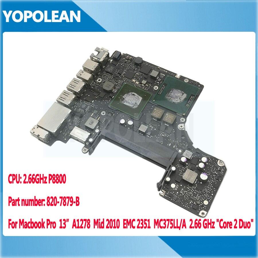 Original Motherboard Logic Board For Macbook Pro 13 A1278 2 66 GHz Core 2 Duo P8800