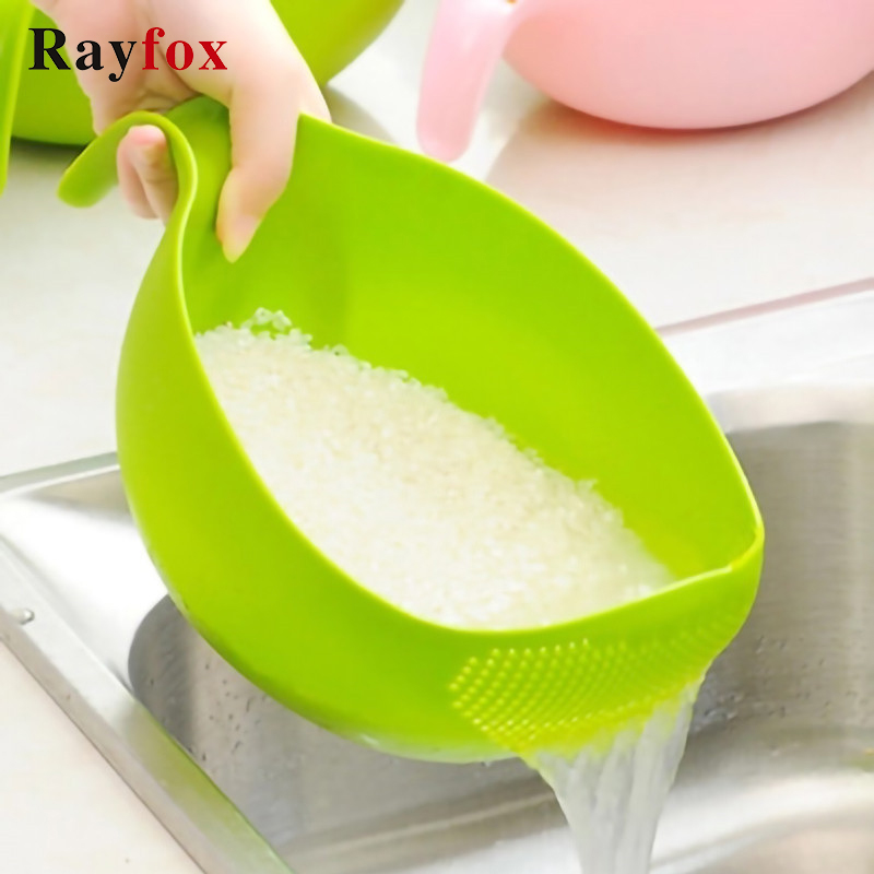 Rice Beans Peas Washing Filter Kitchen Gadgets Strainer Sieve Fruit Bowl Drainer Cleaning Fruit Vegetables Colanders Home Tools Garnishes    - AliExpress