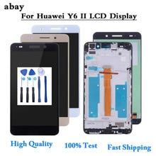Dla Huawei Y6 II Y6II Y6 2 wyświetlacz LCD CAM L23 CAM L03 CAM L21 CAM AL00 ekran dotykowy Digitizer zgromadzenie części LCD 5.5 wymienić