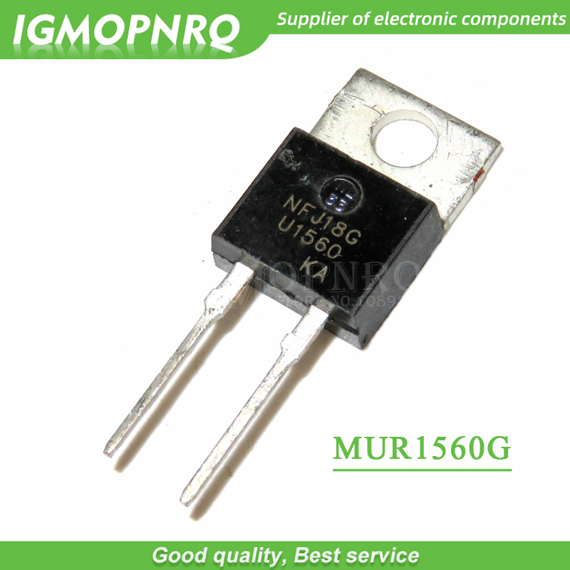 10pcs/lot 15A600V Fast Recovery Diode U1560 MUR1560 MUR1560G TO-220 New Original