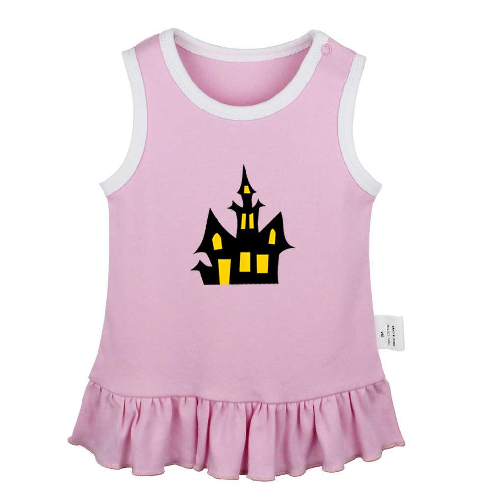 אנימה מות הערה סמל קריקטורה ליל כל הקדושים טירת יילוד תינוק בנות שמלות פעוט שרוולים שמלת תינוק כותנה בגדים