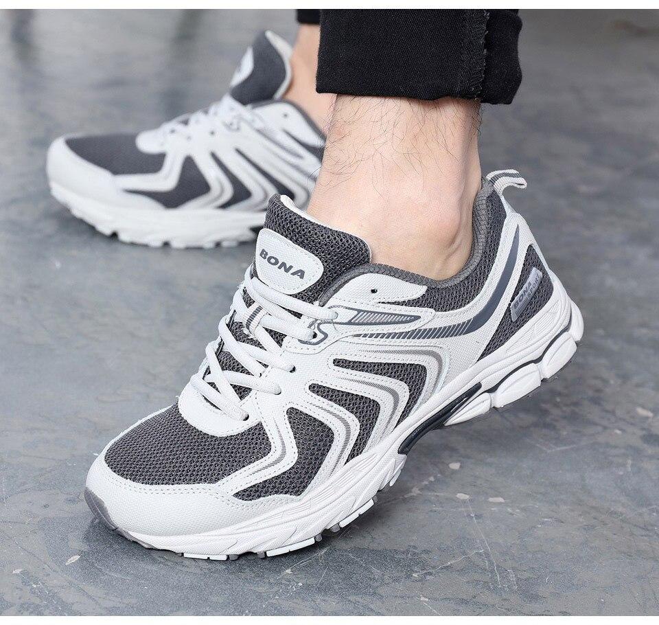 H0253e4a856ce4575a7f684786bde5980H BONA New Fashion Style Men shoes Casual Shoes Men Loafers Men Outdoor Sneakers Shoes Mesh Men Flats Free Shipping