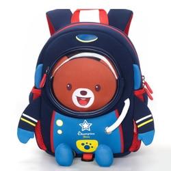 Anti-lost 3D z kreskówkowym motywem kosmosu Robot dzieci tornister maluch dzieci nieprzemakalny plecak szkolny dla dziewczynki chłopcy 2 -8 lat