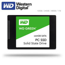 Western Digital WD SSD PC VERDE 2.5 polegada SATA3 SSD120GB HDD Hard Disk 240GB 480GB Drive de Estado Sólido Interno para o Desktop Laptop