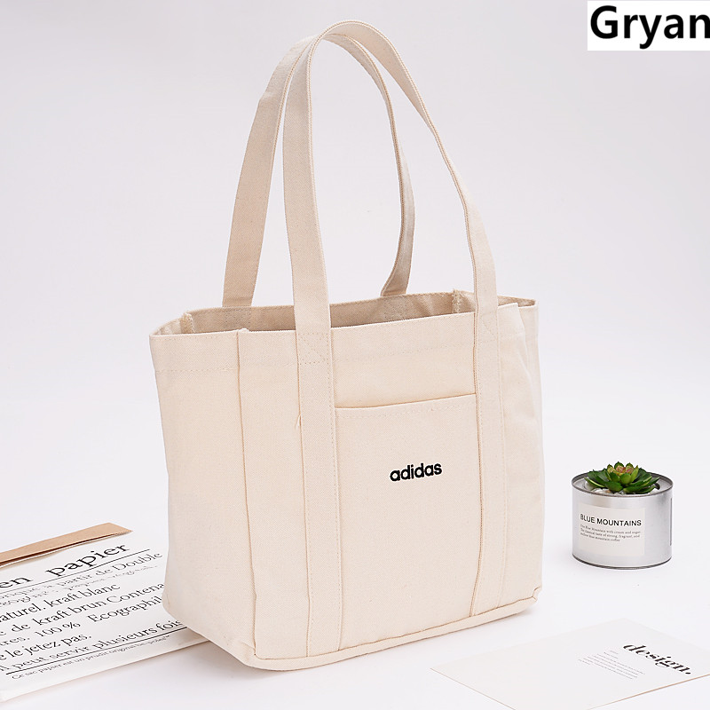 2019 New ECO Canvas Tote White Handbags Tote Bags Reusable Cotton Grocery High Capacity Shopping Bag Thicker Mini Bags