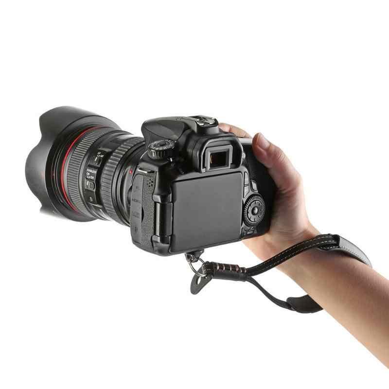 Para cámara DSLR correa de cuero PU cuerda correa de muñeca para DJI Osmo móvil 2 Zhiyun suave cardán de mano negro