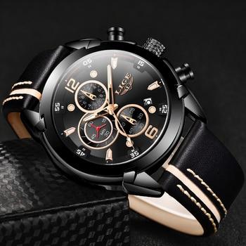 LIGE Men Watch Top Brand Luxury Chronograph Quartz Sport Watches Military Army Male WristWatch Clock relogio masculino - discount item  90% OFF Men's Watches