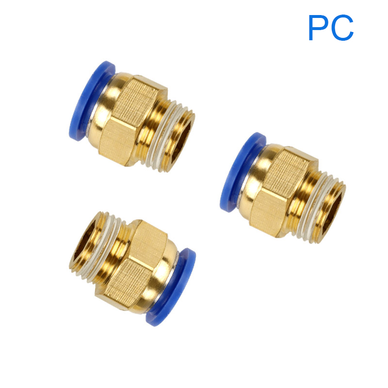 """5pcs Tube O//D 4//6//8//10//12mm To Male M5 1//8/"""" 1//4/"""" 3//8/"""" 1//2/"""" BSP Pneumatic Fitting"""
