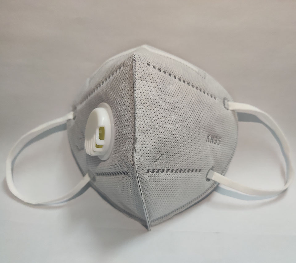5/10/20/50pcs Valve Mask 5 Layer Folding Protective Masks Respirator With Breathing Valve Filter PM2.5 Mouth Cover Dust Masks