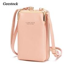 Geestock – sac à bandoulière en cuir PU pour femmes, MINI sacoche à épaule, grande capacité, voyage Portable, porte-monnaie, pochette pour cartes