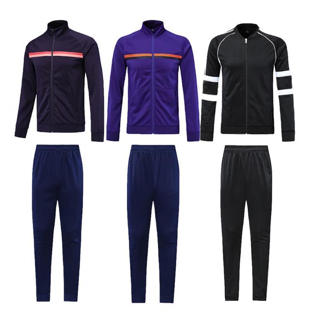 2019 Winter Sport Suit MenTraining  Jacket Set  Tracksuit Long Sleeve  Football Sets Running Suittuta uomo palestra