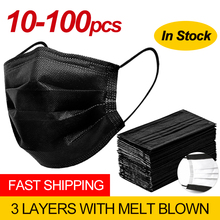Mask FILTER Mouth-Face-Mask Protect Dust Activated Disposable Safety Black Cotton Nonwoven