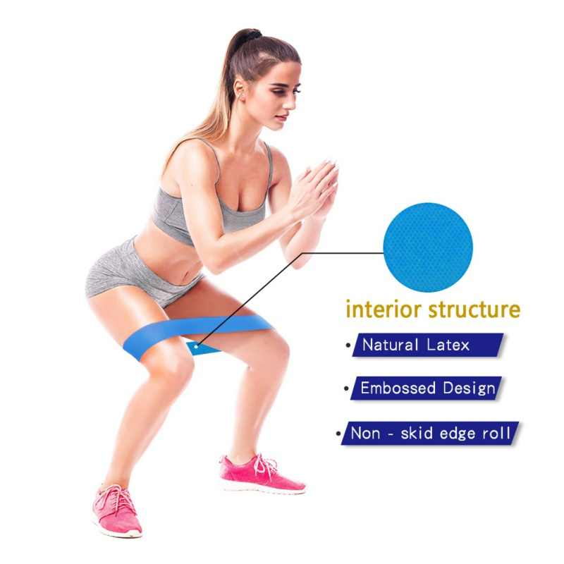 Fitness Weerstand Band Nieuwe antislip Wasbaar Latex Stretch Riem Stretch Yoga Touw Hip Exercise Fitness Ring Training