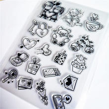 Hot Selling Bear Icoon Transparant Clear Stempel/Siliconen Afdichting Roller Stempel Diy Scrapbook Album/Kaart Productie(China)