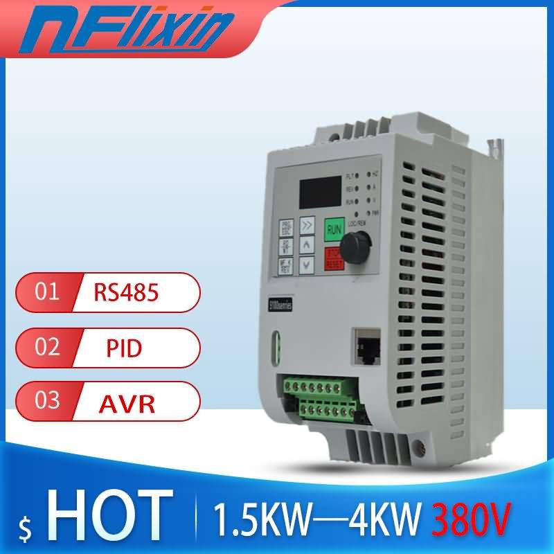 VFD 380 В 4 кВт AC 380 в кВт/4 кВт/кВт, Векторный привод переменной частоты KNK3, 3-фазный контроллер скорости, Инверторный двигатель