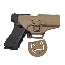 Coldre de arma tático para glock 17 19 beretta m9 colt 1911 hk usp sig sauer p226 série airsoft cinto coldre militar caso pistola