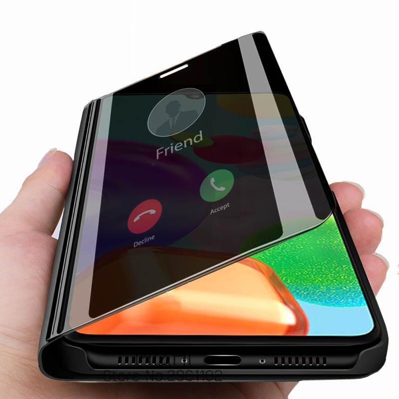 Чехол для samsung a41, умный зеркальный откидной Чехол для телефона samsung galaxy a41, a 41, 41a, a415f, galaxya41, магнитный чехол с подставкой|Специальные чехлы|   | АлиЭкспресс