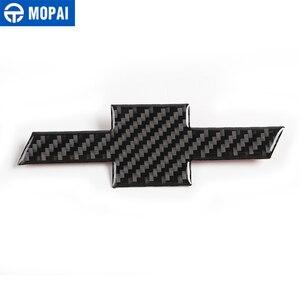 Image 5 - Наклейка MOPAI из углеродного волокна, наклейка на переднюю решетку радиатора, заднюю наклейку с крестом, эмблема, наклейка для Chevrolet Camaro 2017, автомобильные аксессуары