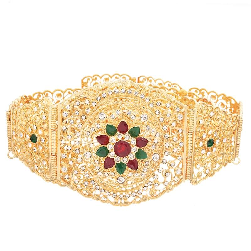 Moroccan Style Waist Band Waist Band Gold Turkish Abaya Waist Chain For Ethnic Wedding Jewelry For Women Metal Belt