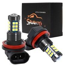 2 шт. H8 светодиодный противотуманный свет лампы для фар дальнего света дневного света для KIA K52016 3030SMD 27 Светодиодный S белый авто светодиодный свет