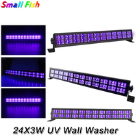 24 LEDS 3W LED Wall Washer Lights DMX UV Stage Lights Bar Black Party Club Disco Light For Christmas Indoor Stage Effect Lights