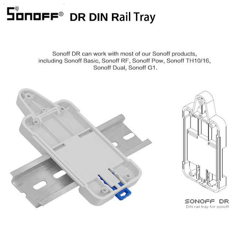Sonoff DR DIN plateau support de boîtier de Rail monté réglable maison intelligente pour Wifi commutateur de télécommande Sonoff TH10/16/double/base/RF