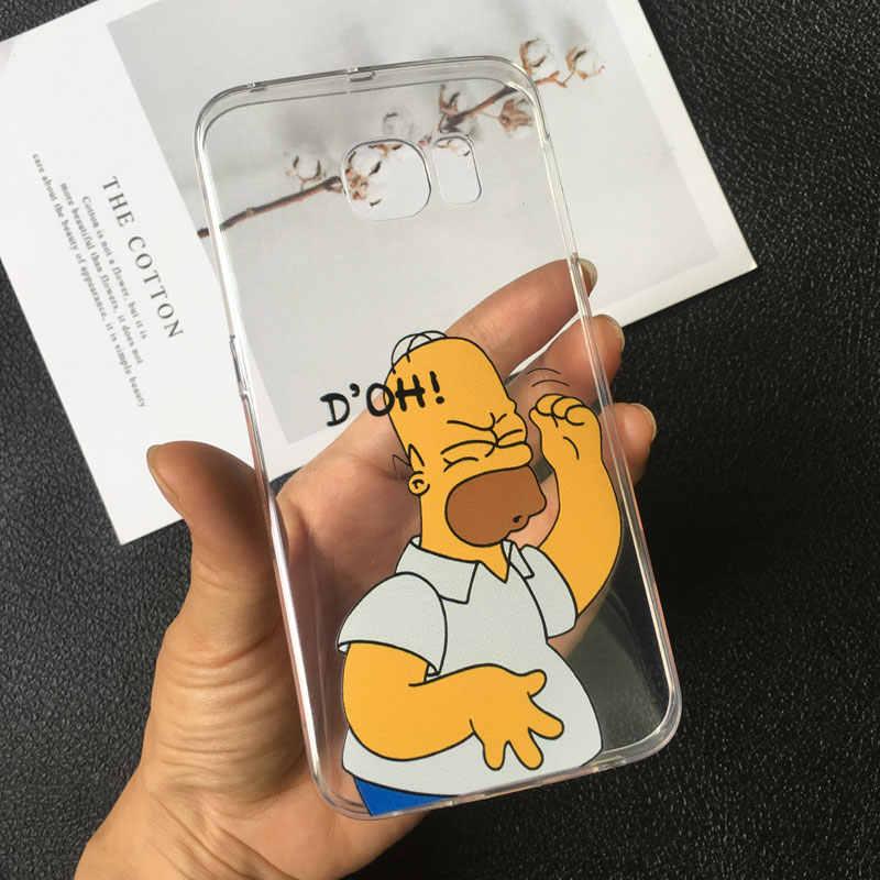 هومر جي سيمبسون مضحك بارت سيمبسون Coque الكرتون الهاتف حقيبة لهاتف أي فون 11 برو 5s 4s 6 6 S 7 8 Plus XR X XS ماكس غطاء من السيليكون