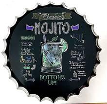 Знак Ретро Мохито бутылочные крышки металлическая жестяная вывеска