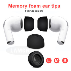 Gąbka silikonowa z pianki memory końcówki słuchawek dousznych dla AirPods Pro zamienne earpads dla apple AirPods Pro Bluetooth akcesoria do słuchawek w Akcesoria do słuchawek dousznych od Elektronika użytkowa na