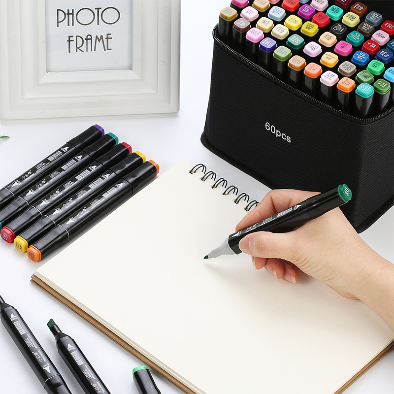 Marker Pencil 30 /40 / 60 / 80 Colors Double Head Marker Set Touch Student Painting Color Animation Watercolor Pen