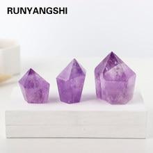 1PC Natural high quality Brazilian Amethyst column Purple crystal energy tower ornaments Drill crystal column Gemstone Fengshui