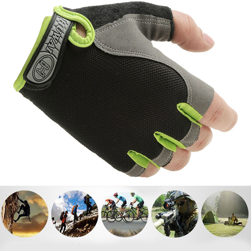 1Pair Summer Half Finger Bike Bicycle Gloves High Elastic Breathable Mesh Anti-Slip MTB Bike Gloves Outdoor Sports Cycling Glove