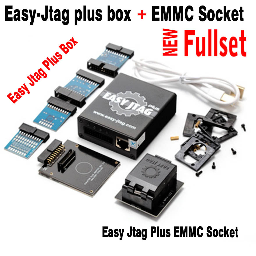 2020 New version Full set Easy Jtag plus box Easy-Jtag plus box+ EMMC socket For HTC/ Huawei/LG/ Motorola /Samsung /SONY/ZTE