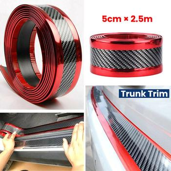 Car Stickers Rubber Strip Anti Scratch Door Sill Protector Carbon Fiber Car Threshold Protection Bumper Film Sticker Car Styling 2 5 meter rubber moulding strip anti scratch strip for car door pedal trim bumper diy door sill protector edge guard car styling