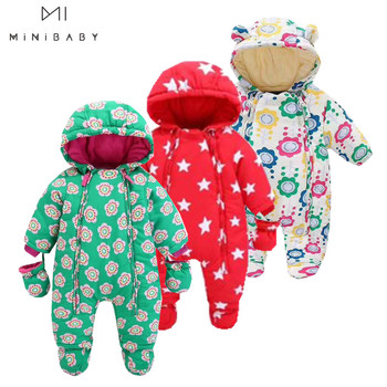 Fashion Minibabies winter baby clothing warm newborn - 24M winter clothes for baby girl snowsuit cute overalls for kids coat